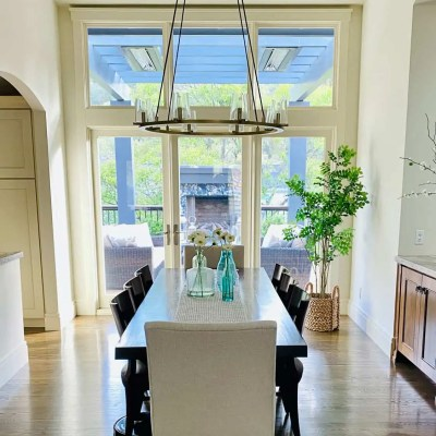 Open Floor Plan dining room refresh