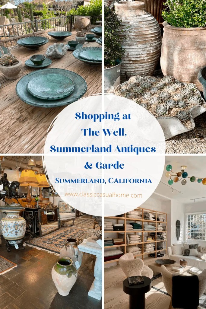 The Well and Antique Shopping in Summerland