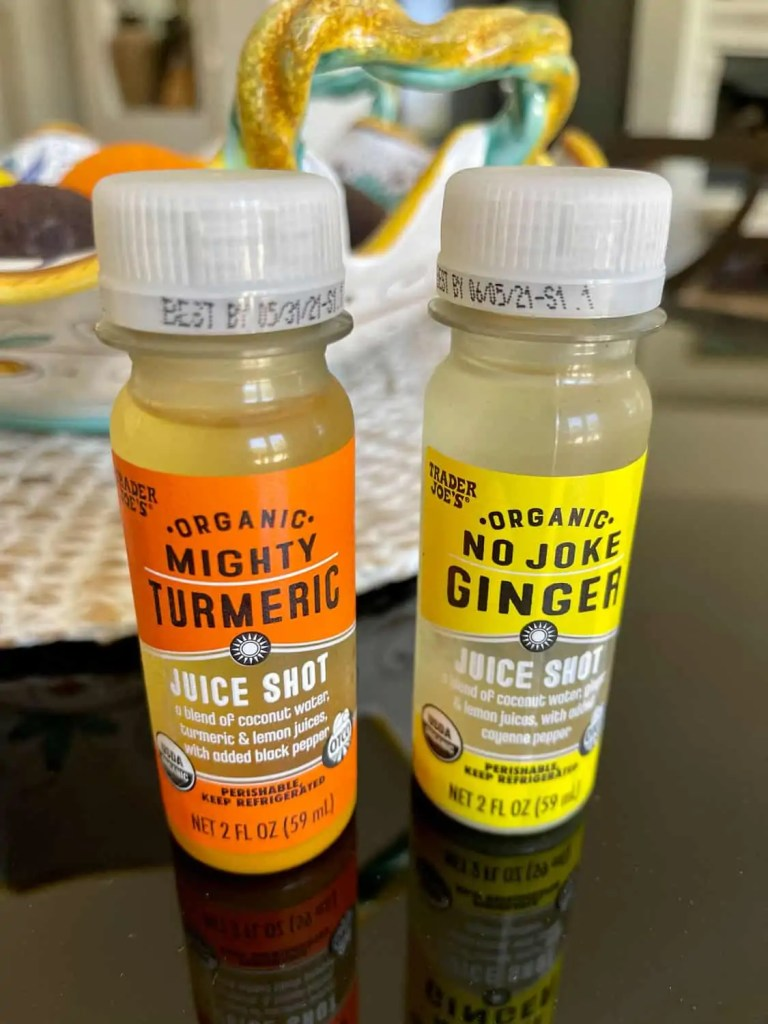 tumeric and ginger juice shots