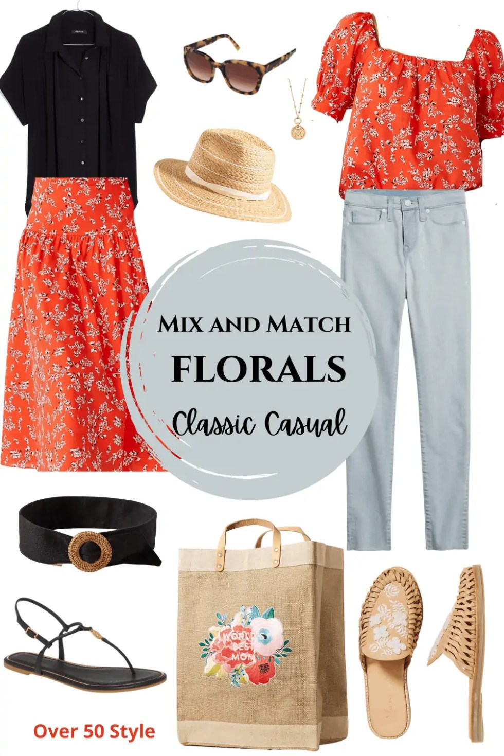Over 50 floral outfit