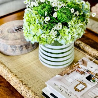 Easy Coffee Table Refresh with Wicker Tray