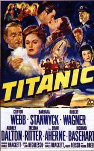 Poster from the 1953 film Titanic