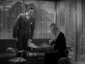 black cat 1934 Boris Karloff and Bela Lugosi play Chess