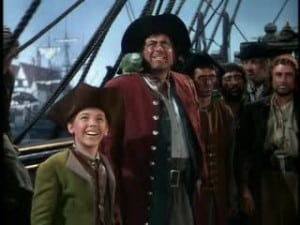 1950 Treasure Island Robert Newton and Bobby Driscoll 5