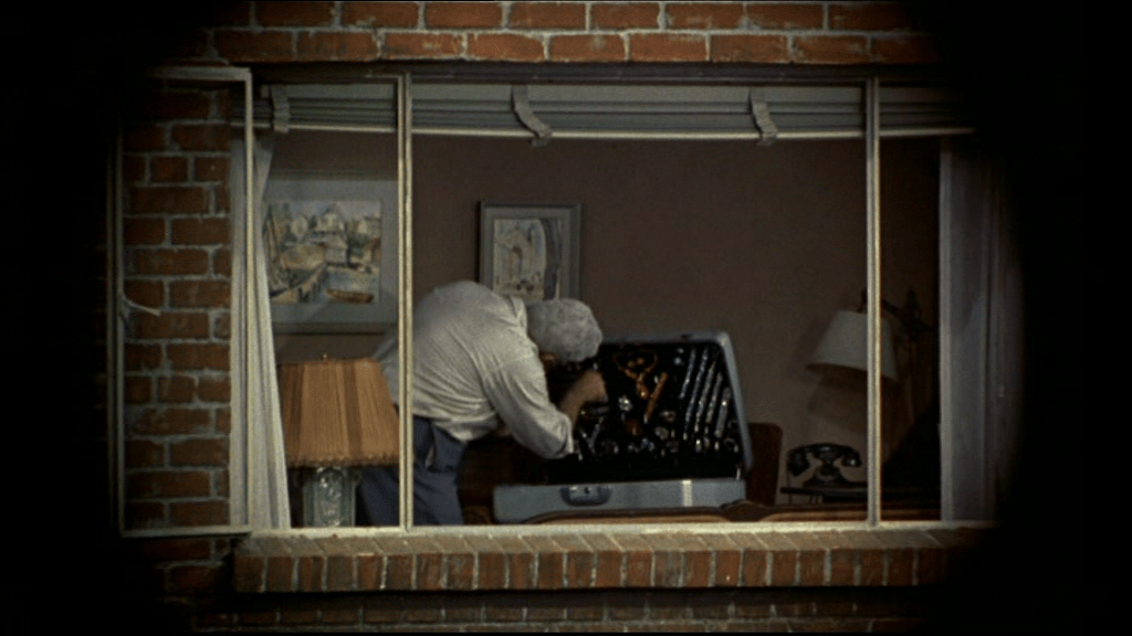 James Stewart has his own perspective in Rear Window