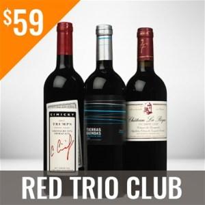 Red Trio Wine Club Three Shipment Membership