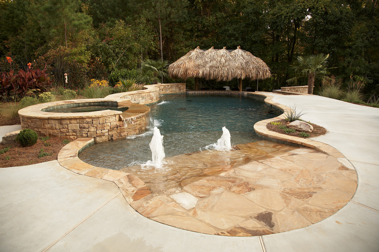 Tropical Backyard Oasis | Classic Landscapes on Tropical Backyards  id=14943