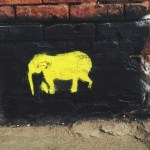 Elephant, DUMBO, Brooklyn, graffiti