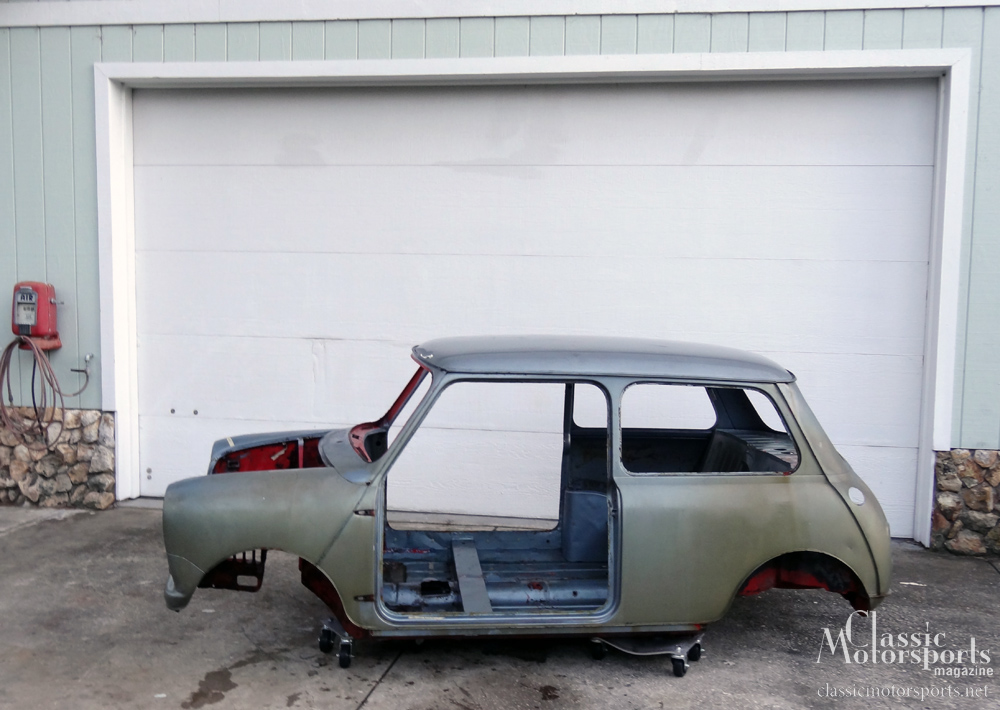 Stripping Down The Tiny Body Austin Mini Cooper S