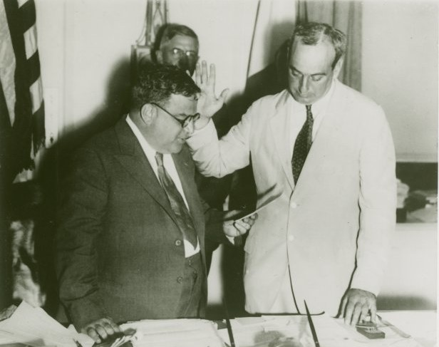 Fiorello La Guardia and Robert Moses