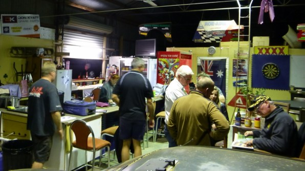 The club rooms at the Central Australian Rally Sport Club in Alice Springs.