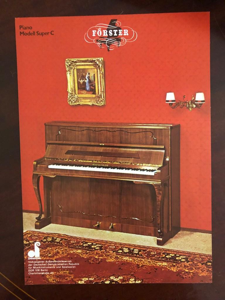 Klavier August Förster Mod Super C