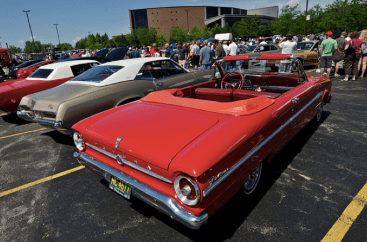 Classic cars were displayed at Willow Creek church's Dadfest 2012.