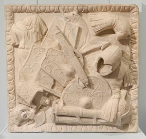 Relief of barbarian arms and armour, Townley Collection