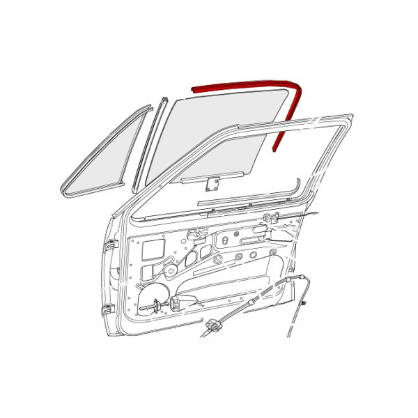 171837439G Uszczelka Prowadnicy Szyby (Pod Chrom) VW Golf 1, Caddy 1