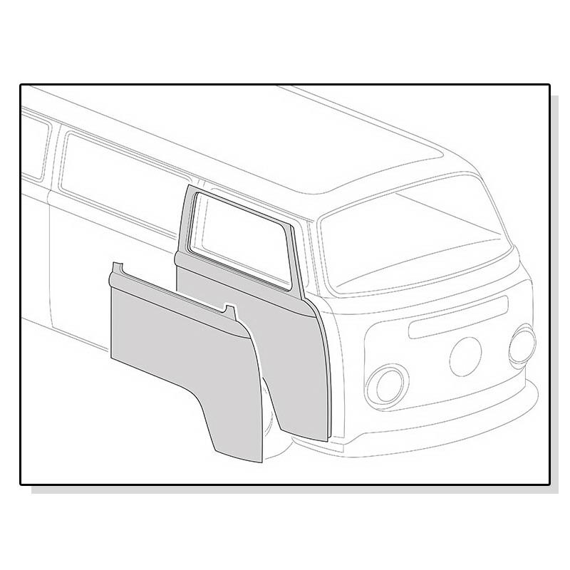 211831106D Poszycie Drzwi Prawe VW Bus T2