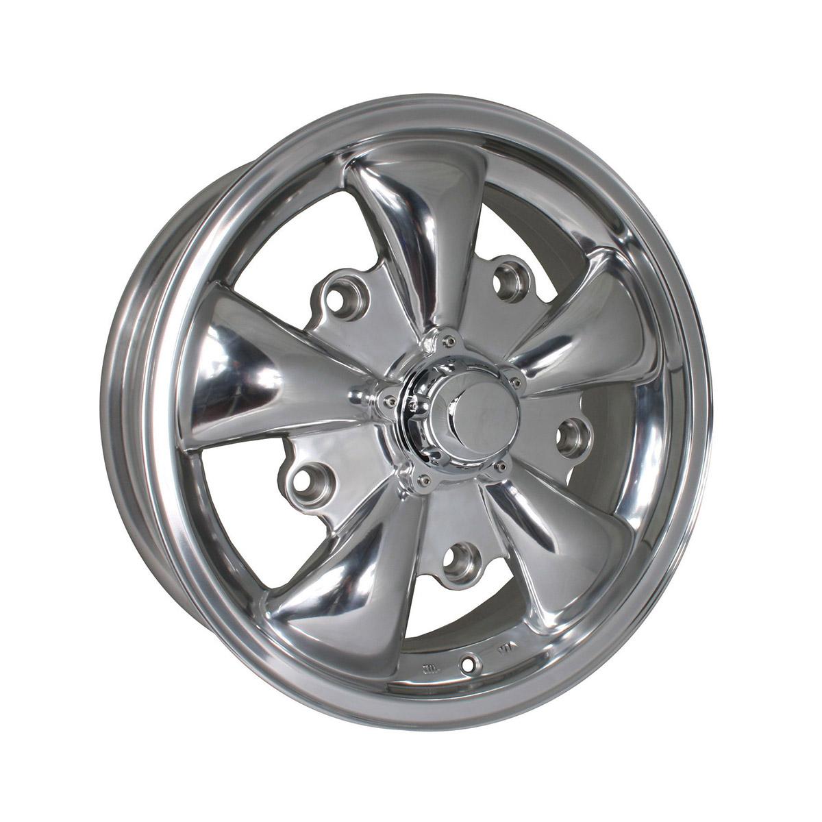 "Felga SSP GT 5 Spoke Polished Alloy Wheel 5.5Jx15"" VW Garbus, Bus T1"
