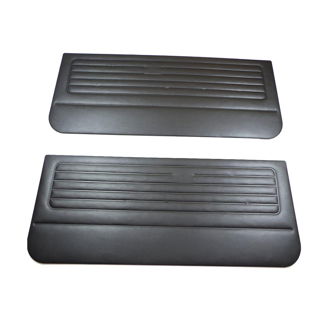 171808000 Tapicerki Przednie Czarne (OEM) VW Golf 1 (3D)