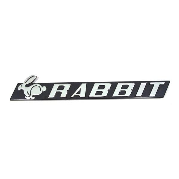 "171853687E Emblemat ""Rabbit"" Chrom VW Golf 1"