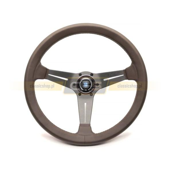 Kierownica Skórzana Nardi 35cm (Brązowa) VW, Mercedes, BMW
