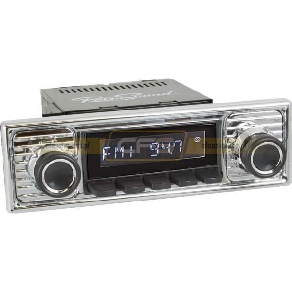 Radio RetroSound HR Black Scalloped + Bluetooth