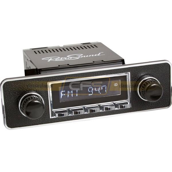 Radio RetroSound HR Chrom Euro Black2 + Bluetooth