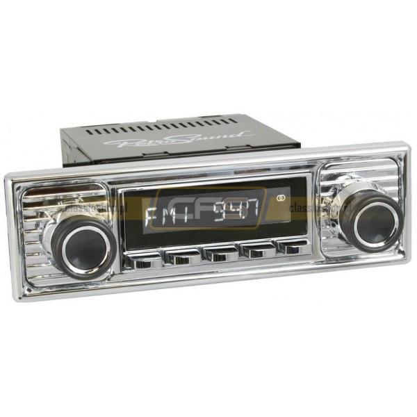 Radio RetroSound HR Chrom Scalloped + Bluetooth
