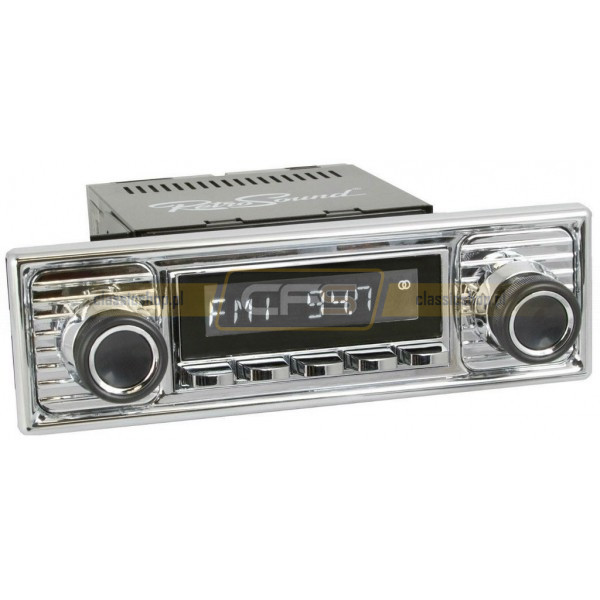 Radio RetroSound HR Chrom Scalloped + Bluetooth