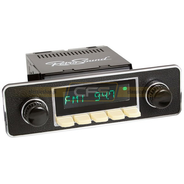 Radio RetroSound HR Ivory Euro Black + Bluetooth