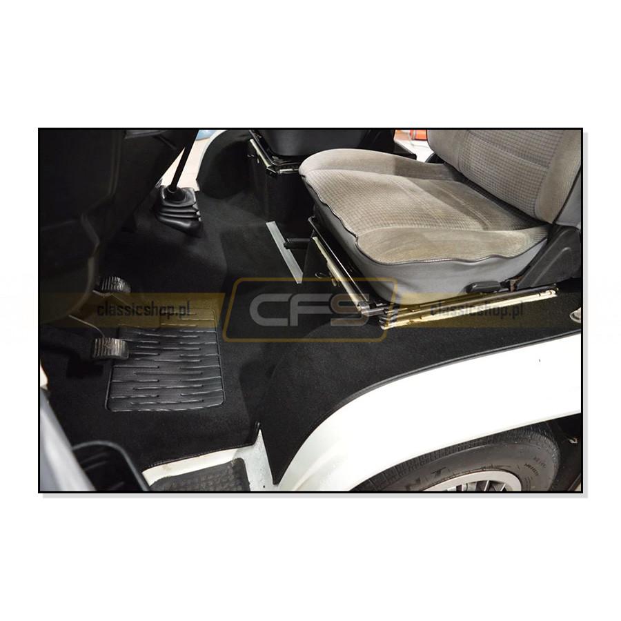 Dywany Podłogi Czarne (Komplet) VW Bus T3 (Benzyna i Diesel)