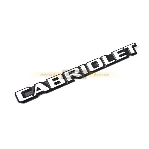 "Emblemat ""Cabriolet"" (Biały) VW Golf 1 Cabrio"