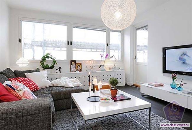Правильное освещение в однокомнатной квартире