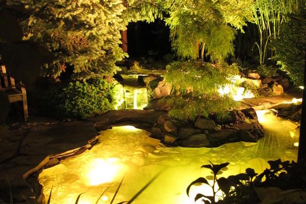 Подсветка пруда - особенности
