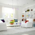 Белый цвет с освещением в интерьере – роскошь и простота
