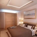 Интерьер спальни с освещением