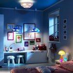 Территория детства, интерьер комнаты с освещением для ребенка