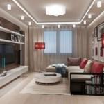Ремонт гостиной со светом