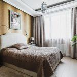 Ремонт спальни при свете
