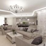 Дизайн интерьера дома в гламурном стиле с семейным акцентом и с освещением