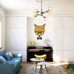 Дизайн интерьера маленькой квартиры для молодой женщины с освещением