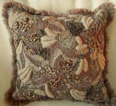 Wool Textured Pillow Cover Mocha from Edward John Home Decor