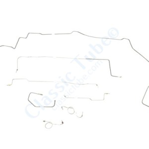 """Dodge Challenger Brake Line Kit  Standard Drum - Right Front Routes Over Frame - 8-3/4"""" and Dana Axle (1 Pc. Front to Rear) -1970,1971"""
