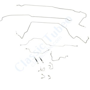 Ford  F150 Brake Line Kit  4WD Regular Cab Short Bed 4 Wheel ABS 8.8 Axle -1998