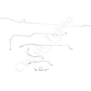 Ford Mustang Brake Line Kit (6 pcs)  Power Drum - 6 Cylinder -1964,1965