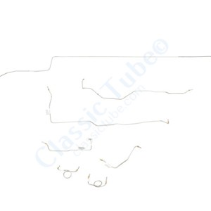 """Shelby GT350 Brake Line Kit (7pcs)  Standard Disc - V8 - 8"""" and 9"""" Axle - Factory Dual Exhaust -1966"""
