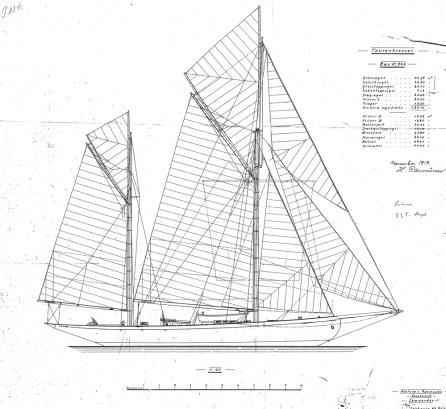 Original gaff configuration