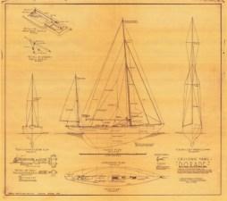 Dorade line drawings