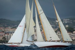 Cannes, France, 25 september 2012 Panerai Classic Yacht Challenge Regates Royales de Cannes 2012 Eilean crosses Amadour Ph:Guido Cantini/Sea&See/Panerai