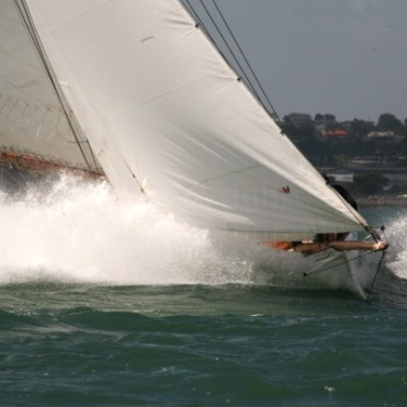 Yachts competing in the Lindauer Classics regatta, 2008. Strong breeze with gusts up to 35 kts.