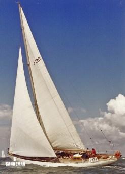 Foxhound under sail